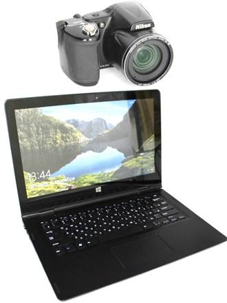 Ноутбук Prestigio и фотоаппарат Nikon