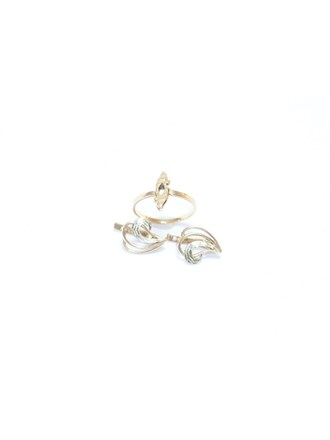 Серьги Кольцо Золото 585