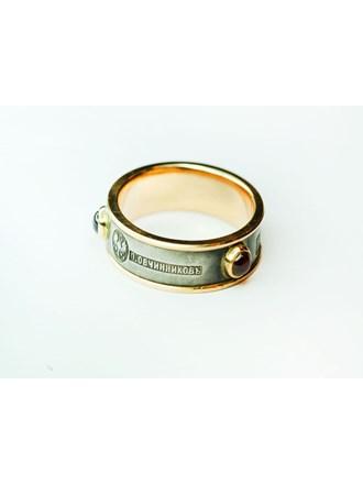 """Кольцо с серебряной вставкой. Овчинниковъ Золото 56"""""""