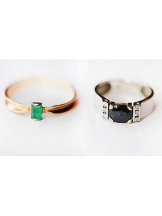 """Кольцо Золото 585"""" камень синт, кольцо Белое Золото 585"""" с брилл, сапфир"""