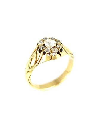 Перстень с бриллиантами 56 пробы