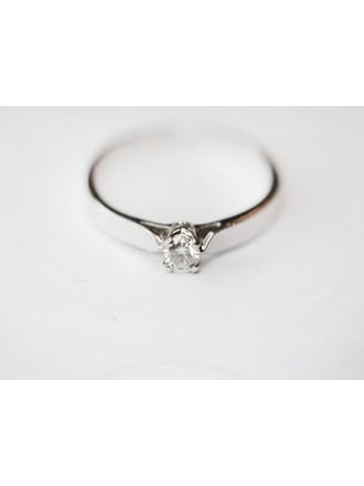 """Кольцо с бриллиантом Белое Золото 750"""""""