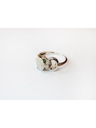 "Кольцо с бриллиантами Золото белое 585"""