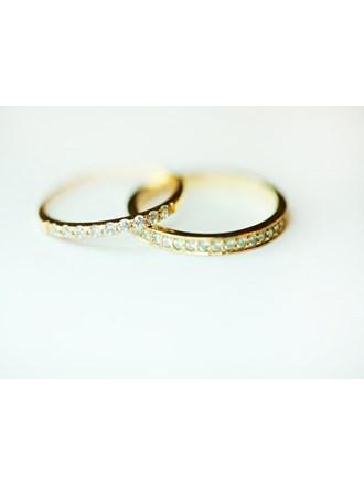 Два кольца с бриллиантами, золото 585