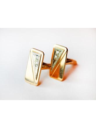 Запонки с бриллиантами Золото 585