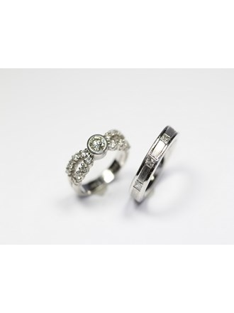 "Два кольца Платина 900"""