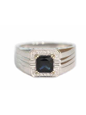 """Перстень Золото 585"""" Бриллианты Сапфир"""