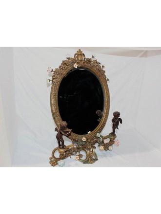 Зеркало настольное бронза фарфор