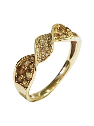 Кольцо Бриллианты Цитрины