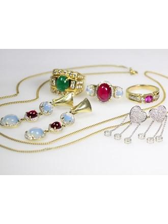 Ювелирные украшения Золото 585/750 Бриллианты, изумруд