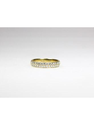 Кольцо с бриллиантами. Золото 750.