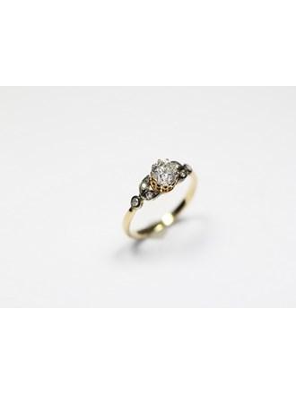 Кольцо бриллианты золото 585