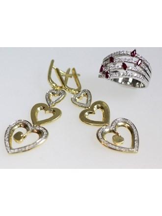 Ювелирные украшения. Золото 585. Бриллианты.