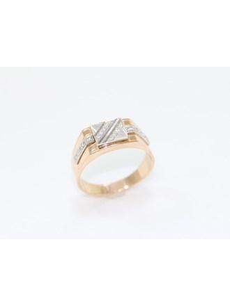 """Перстень Золото 585"""" Фианиты"""