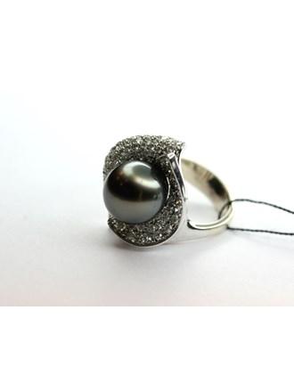 Кольцо с Бриллиантами и  жемчугом Золото 750