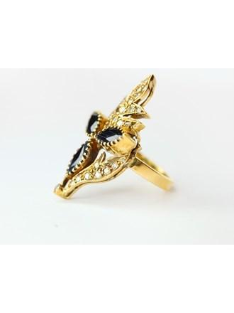 Кольцо Золото 750 Бриллианты Сапфиры