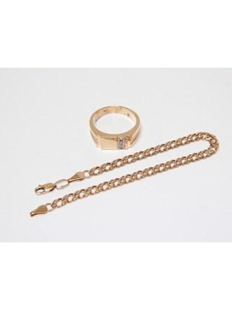 """Кольцо Браслет Золото 585"""" Бриллианты"""