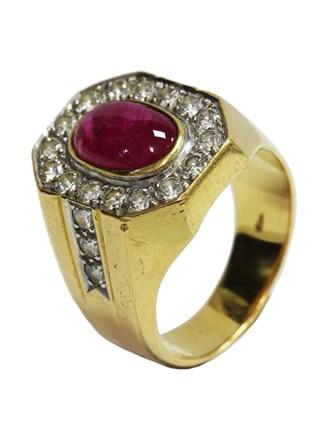 Перстень Бриллианты Рубин