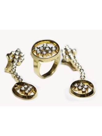 Серьги Кольцо Золото 585 Бриллианты