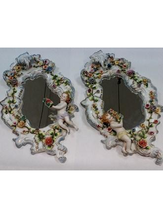 Зеркала в фарфоровой раме