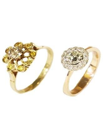 Два Кольца Бриллианты