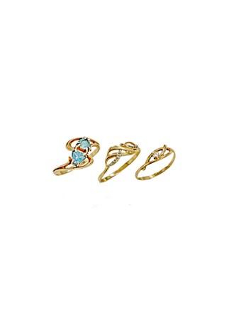 """Кольца Золото 585"""" Топазы Фианиты"""
