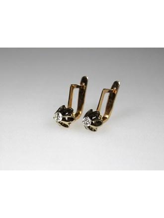 Серьги Золото 583 Бриллианты
