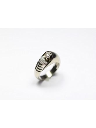 Кольцо бриллианты золото 750