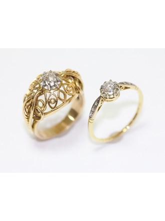 """Кольца Золото 585"""" Бриллианты Алмазные розы"""