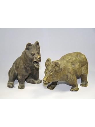 Фигуры медведей Бронза