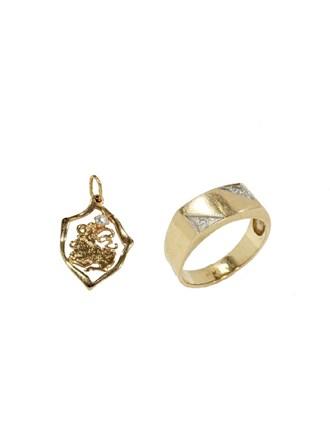 """Кольцо Подвеска Золото 585"""" Бриллианты Фианиты"""