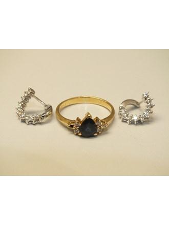 Кольцо Серьги бриллианты золото 750