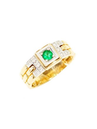 "Кольцо Золото 585"" Бриллианты Изумруд"