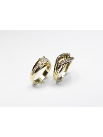 Два кольца бриллианты золото 585