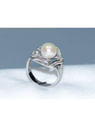 Кольцо Золото 585 Бриллианты,жемчуг