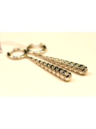 Серьги с бриллиантами ЗОЛОТО 750