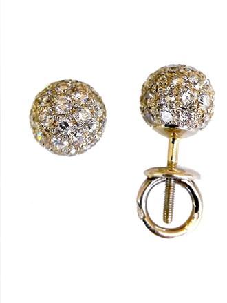 Серьги с бриллиантами золото