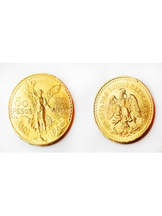 """Монета 50 песо Золото 900"""""""
