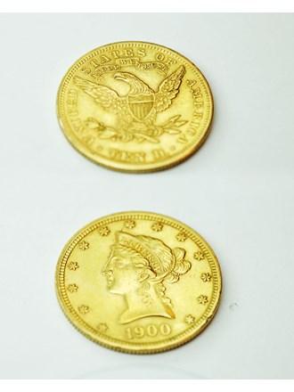 """Монета Liberty 1900 год , 10 долларов Золото 900"""""""