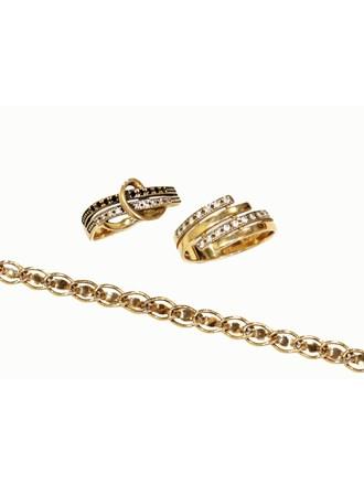 """Кольца Браслет Золото 585"""" Фианиты"""