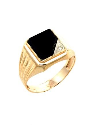 Перстень Оникс Бриллиант