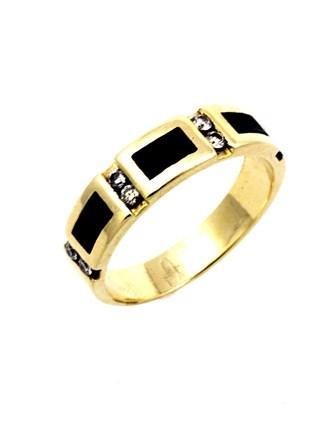 Кольцо Бриллиантовые вставки Эмаль