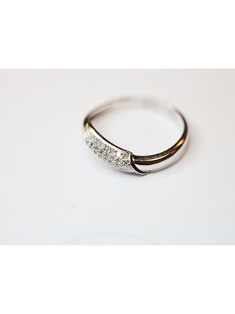 Кольцо с бриллиантами Белое Золото 585