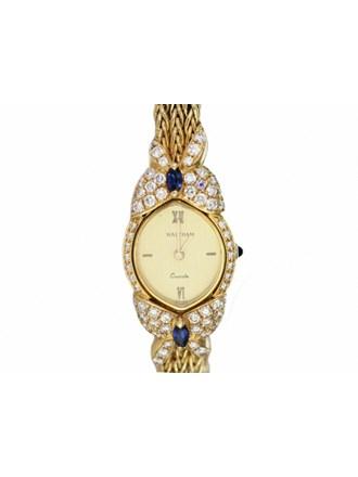 "Часы Золото 750"" Бриллианты Сапфиры"