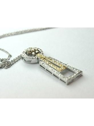 Кулон на цепочке с бриллиантами, Золото 750*