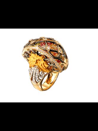"""Кольцо Золото 750"""" Бриллианты Сапфиры MAGERIT"""