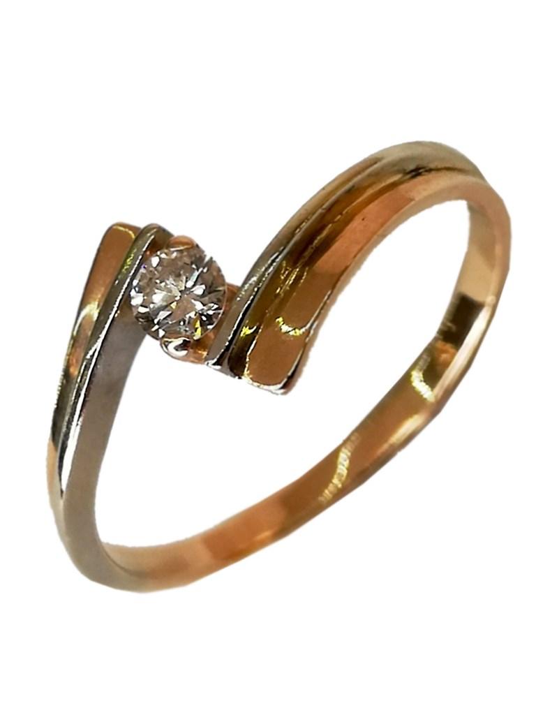 Кольцо с бриллиантом золото