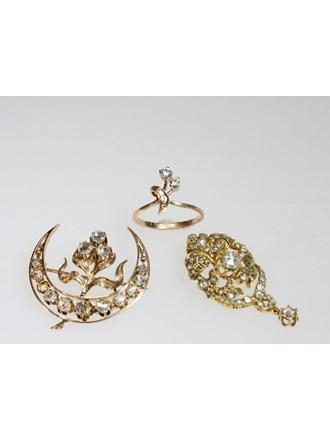 Ювелирные украшения Золото 585 Бриллианты Алмазные розы
