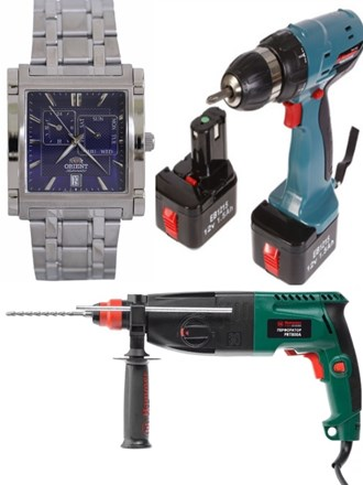 Часы и строительная техника