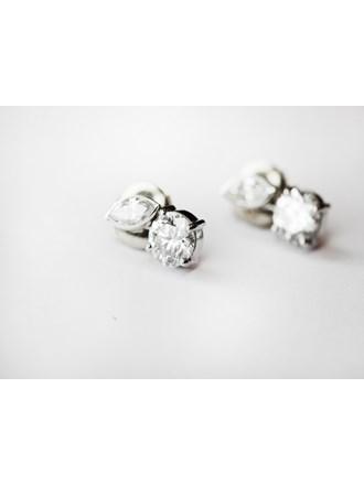Серьги пара с бриллиантами золото 750